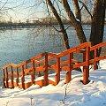 Schody do wody #Puławy #zima #Wisła #bulwar #schody